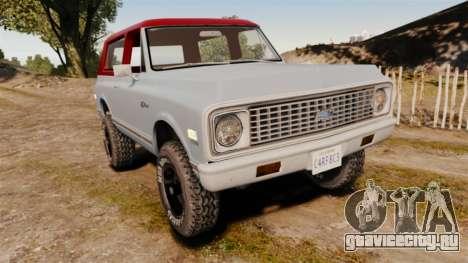 Chevrolet K5 Blazer для GTA 4