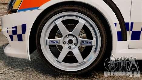 Mitsubishi Lancer Evo X Humberside Police [ELS] для GTA 4 вид сзади