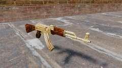 Автомат АК-47 позолоченный для GTA 4