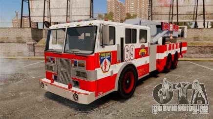 MTL Firetruck Tower Ladder FDLC [ELS-EPM] для GTA 4