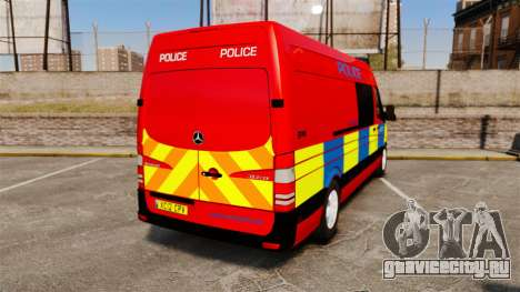 Mercedes-Benz Sprinter 313 CDI Police [ELS] для GTA 4 вид сзади слева