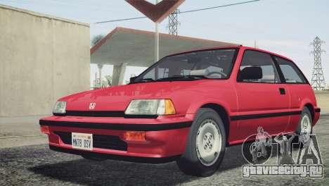 Honda Civic Si 1986 HQLM для GTA San Andreas вид сзади