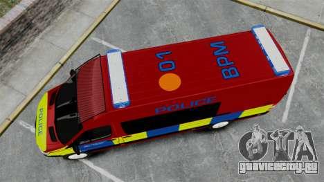 Mercedes-Benz Sprinter 313 CDI Police [ELS] для GTA 4 вид справа