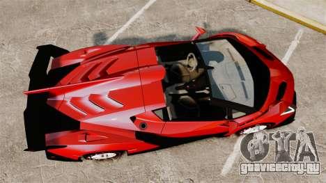 Lamborghini Veneno Roadster LP750-4 2014 для GTA 4 вид справа