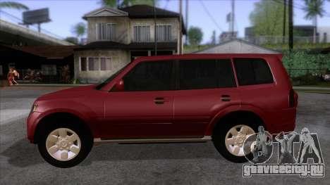 Mitsubishii Pajero IV для GTA San Andreas вид слева