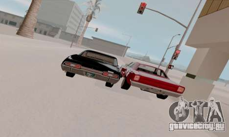 Plymouth Road Runner 383 1969 для GTA San Andreas вид снизу