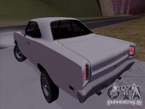 Plymouth Road Runner 383 1969 для GTA San Andreas вид слева