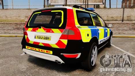 Volvo XC70 2014 Police [ELS] для GTA 4 вид сзади слева