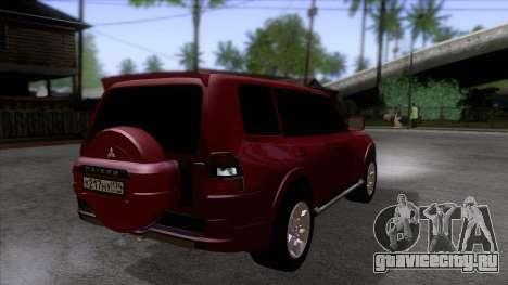 Mitsubishii Pajero IV для GTA San Andreas вид справа