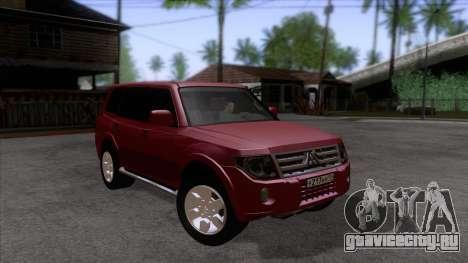 Mitsubishii Pajero IV для GTA San Andreas вид сзади