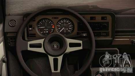 Volkswagen Golf MK1 Red Vintage для GTA San Andreas вид сзади
