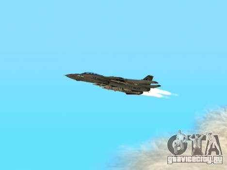 F-14 LQ для GTA San Andreas вид изнутри