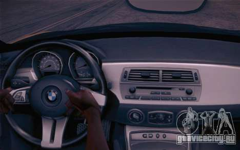 BMW Z4 V10 Stanced для GTA San Andreas вид сзади