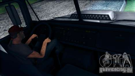 КрАЗ 6322 для GTA San Andreas вид изнутри