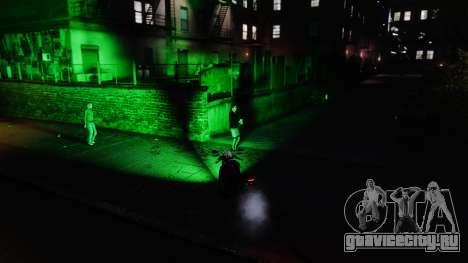Зелёный свет фар для GTA 4 второй скриншот
