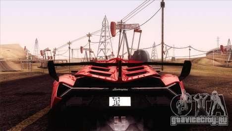 Lamborghini Veneno Roadster LP750-4 2014 для GTA San Andreas вид справа