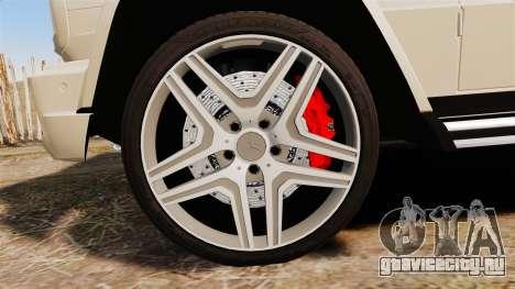 Mercedes-Benz G65 (W463) 2012 AMG для GTA 4 вид сзади