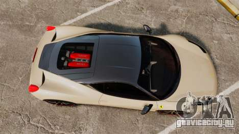 Ferrari 458 Italia 2011 для GTA 4 вид справа