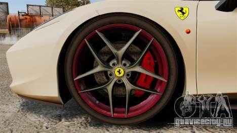 Ferrari 458 Italia 2011 для GTA 4 вид сзади