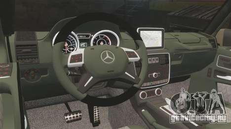 Mercedes-Benz G65 (W463) 2012 AMG для GTA 4 вид изнутри