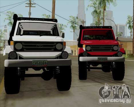 Toyota Land Cruiser Machito 2009 LX для GTA San Andreas вид сзади слева