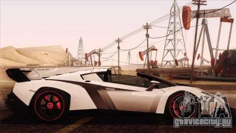 Lamborghini Veneno Roadster LP750-4 2014 для GTA San Andreas вид сбоку