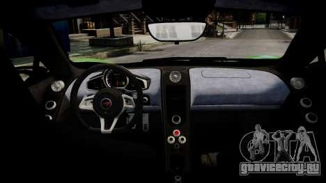 McLaren MP4-12C для GTA 4 вид сверху