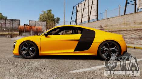 Audi R8 V10 plus Coupe 2014 [EPM] [Update] для GTA 4 вид слева