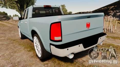 Dodge Ram 3500 Heavy Duty для GTA 4 вид сзади слева