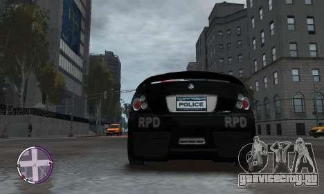 Holden Monaro CV8-R Police для GTA 4 вид сбоку