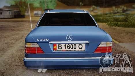 Mercedes-Benz E320 W124 для GTA San Andreas вид сзади