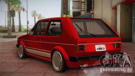 Volkswagen Golf MK1 Red Vintage для GTA San Andreas вид справа