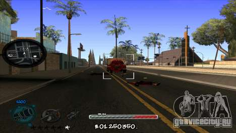 C-HUD by Jayson Wallace для GTA San Andreas третий скриншот