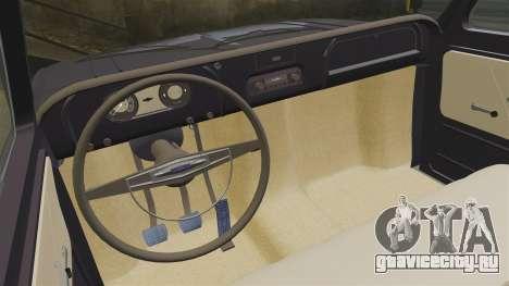 Chevrolet C10 1974 для GTA 4 вид изнутри