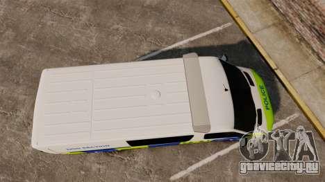 Mercedes-Benz Sprinter 211 CDI Police [ELS] для GTA 4 вид справа