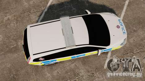 Ford Focus Estate British Police [ELS] для GTA 4 вид справа