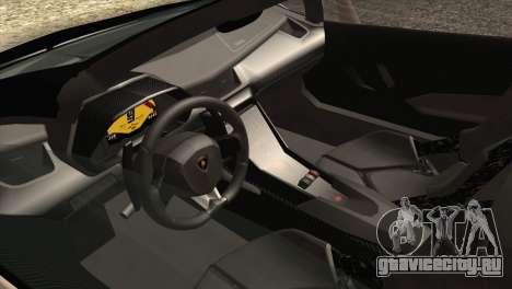Lamborghini Veneno Roadster LP750-4 2014 для GTA San Andreas вид снизу
