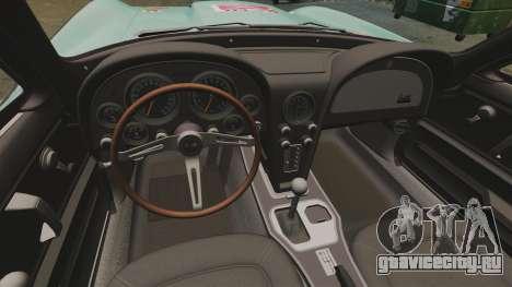 Chevrolet Corvette C2 1967 для GTA 4 вид сзади