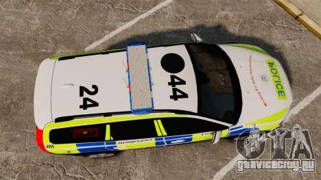 Volvo XC70 2014 Police [ELS] для GTA 4 вид справа