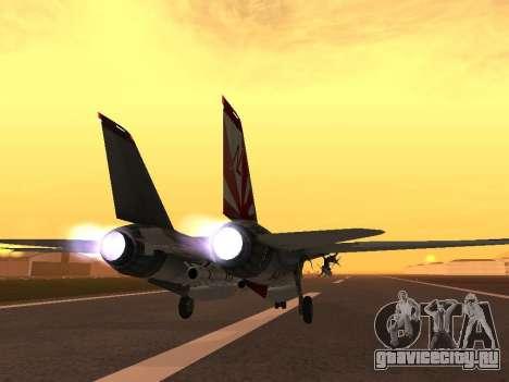 F-14 LQ для GTA San Andreas вид сзади слева