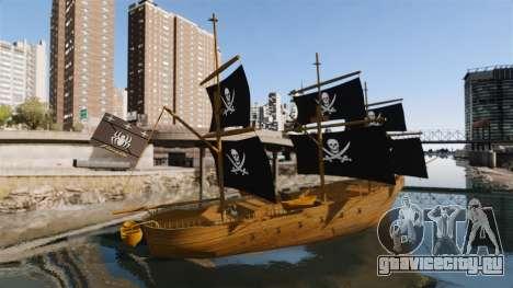 Пиратский корабль для GTA 4 вид слева