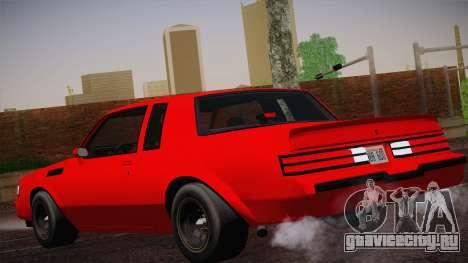 Buick Regal GNX для GTA San Andreas вид слева