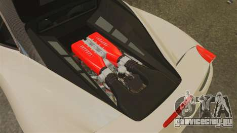 Ferrari 458 Italia 2011 для GTA 4 вид изнутри