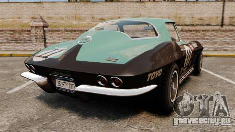Chevrolet Corvette C2 1967 для GTA 4 вид сзади слева