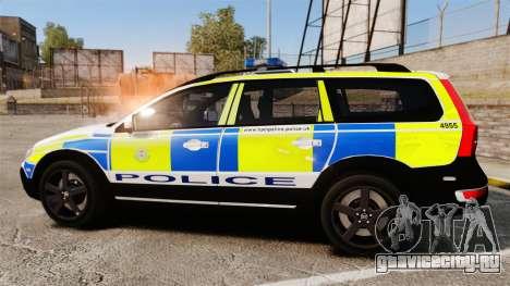 Volvo XC70 2014 Police [ELS] для GTA 4 вид слева
