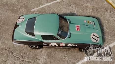 Chevrolet Corvette C2 1967 для GTA 4 вид справа