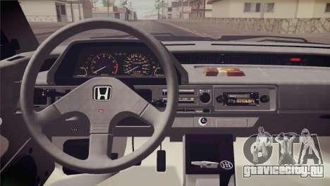 Honda Civic Si 1986 HQLM для GTA San Andreas вид сбоку