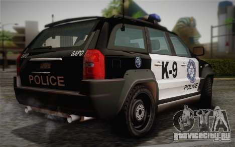 NFS Suv Rhino Light - Police car 2004 для GTA San Andreas вид слева