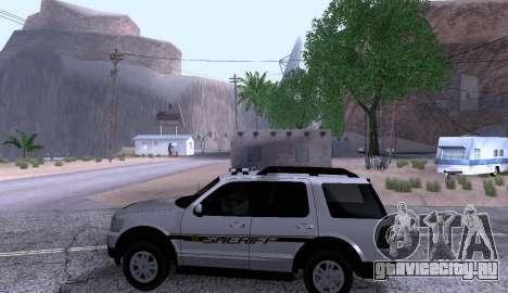Ford Explorer Sheriff 2010 для GTA San Andreas вид слева