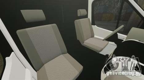 Mercedes-Benz Sprinter 313 CDI Police [ELS] для GTA 4 вид изнутри